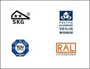 Keurmerken zijn belangrijk om de kwaliteit van kunststof kozijnen te meten. Kunststof kozijnen van Kozijncompany voldoen aan de SKG-2 keurmerken, KOMO keurmerk, Politiekeurmerk veilgig wonen en bezitten Tüv en RAL certificeringinge.