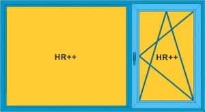 Kunststof kozijnen prijzen kantel draai raam en vast glas HR++